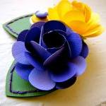Paper Flower Corsage, Pin-on Corsag..