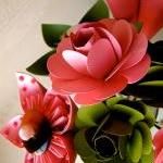 Pink and Green Kusudama and Rose Fo..