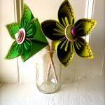 Two Paper Flower Wedding Bouquet, G..