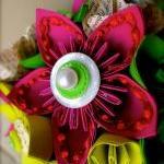 Paper Flower Wedding Bouquet, Green..