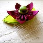 Paper Flower Hairpiece, Headpiece, ..