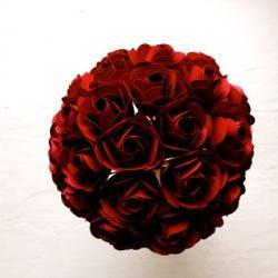 Paper Rose Bouquet, Bridal Bouquet, Red